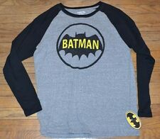 Batman Logo T-Shirt Officially Licensed DC Comics Long Sleeve Tee Size Large