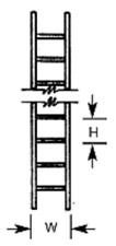 Paquete De 2 Plastruct LS2 1:200 (calibre N) escaleras