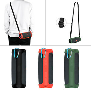 Silicone Case Sleeve w/ Belt/Hook for JBL Charge Essential Bluetooth Speaker New