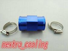 Blue 32MM Water Temp Temperature Gauge Joint Pipe Sensor Radiator Adaptor