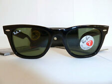 Ray Ban RB2140 901/58 Original Wayfarer Black/Green Polarized Sunglasses 50mm