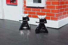 Jack Stands (2) Black Diecast Miniatures 1/24 1/18 G Scale Diorama Accessories