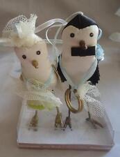 Silvestri Ann Wood Bird Flower Girl Ring Bearer Cake Topper Ornaments