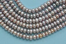 4-4.5mm Small Mauve Lavender Dusty Pink Button Rondelle Freshwater Pearls A