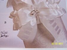 With This Ring... Jamie Lynn Wedding Party Satin Fabric Garter 2 COLORS