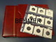 Album  NUMIS, Beumer; con 25 Hojas 9 cartones .Negro.