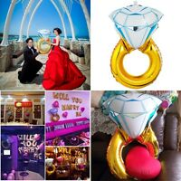 Wedding Decor Balloons Mariage Diamond Ring Favors Gifts Big Helium Foil Baloon