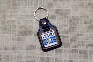 Volvo 700 740 760 Keyring - Leatherette & Chrome Keytag