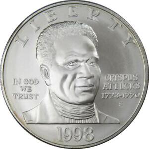 Black Revolutionary War Patriots 1998 S 90% Silver Dollar Uncirculated $1 Coin