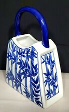 "La Dolce vita By Ja Design Blue Bamboo collection China Purse Flower vase tall""9"