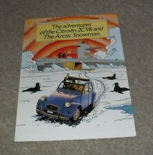 Citroen 2CV Tin Tin Adventures Of The 2CV And Arctic Snowman 2CV6 Brochure 1985