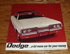 Original 1966 Dodge Full Size Polara Monaco Sales Brochure - Canadian 66