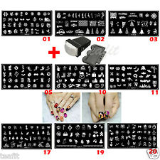 2017 New Year Halloween Xmas Christmas Stamping Plates Stamp Nail Art Template