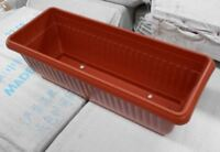 Terracotta Colour Plastic Window Box Rectangular Planter Pot