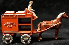 Vintage LESNEY MATCHBOX No.7a - PASTEURISED MILK WAGON & HORSE - METAL WHEELS