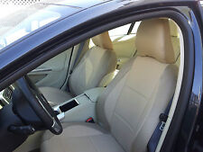 FITS TO S60 S70 S80 TAN LEATHERETTE / TAN SYNTHETIC SIDES Front SEAT COVERS