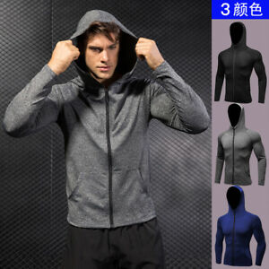Men's Sports Fitness Running Training Casual Hoodies Quick-Dry Jacket