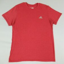 Adidas Reflective 3 Stripe Logo - Red Large Slim Fit Athletic T-Shirt A1935