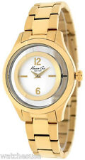 Kenneth Cole 10026946 New York Silver Dial Gold Tone Stainless Women's Watch