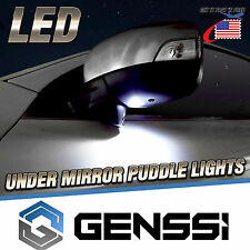 Bright White LED Canbus Error Free Car Under Mirror Puddle Lights Replace Pack 2