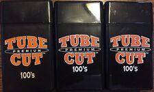 3 Gambler Tube Cut 100's Size Cigarette Case Hard Flip Top Black Heavy Duty Box