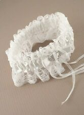 12 x WHITE lace Wedding Bridal Hen Garter Heart bow wholesale job lot 8450