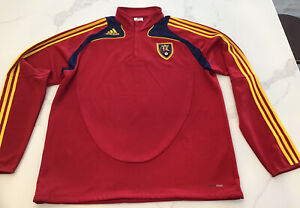 Adidas MLS Real Salt Lake RSL XANGO Red Pullover 1/4 Zip Mens Sz XXL - EUC