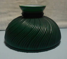 "Dark Green Swirl Pattern 10"" Fitter Oil Lamp Shade Aladdin Student B&H P&A Exc!"