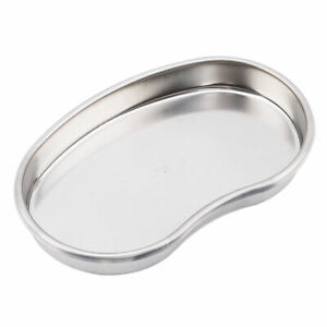 1x Dental Medical Trays Kidney Shape Stainless Steel Tray Size M 200*140*25mm