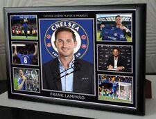 FRANK LAMPARD CHELSEA MANAGER & LEGEND Framed Canvas Print Signed  Great Gift