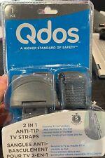 qdos anti-tip tv straps- 1 kit