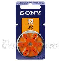 SONY Hearing aid 13 Size batteries Zinc Air PR48 1.4V Mercury free  6 - 60 cells