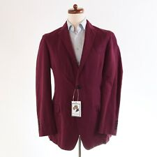BURBERRY LONDON Sakko Jacket Gr 52 Leinen Baumwolle Linen Cotton Bright Plum Por