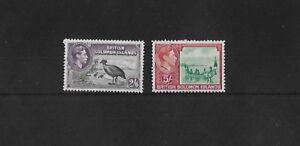 SOLOMON ISLANDS SG70/1, GEORGE VI 2/6d + 5/- FRESH MOUNTED MINT, CAT £64