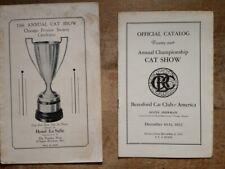 1930s Cat Show Programs Chicago La Salle Hotel & Hotel Sherman