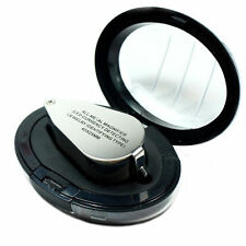 Illuminated 40x Jewelers Loupe Tool 40 x 25 mm Magnifier with LED UV Lights