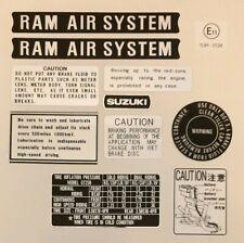 SUZUKI GT550 RAM AIR WARNING DECAL KIT