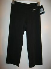 Damen Nike Dri-Fit XS Training Capri Hose Yoga Schwarz Laufen Strumpfhosen NWT Retail $45
