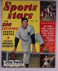 Sports Stars April 1950 Joe Page Carl Furillo George Kell Paul Arizin Groza M63