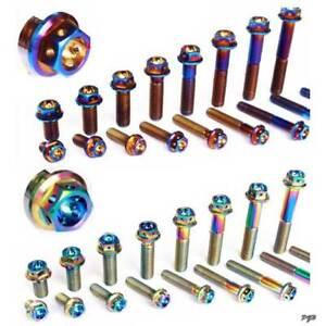 4pcs  M6 *10/15/35/40/45/20/25/30/50mm Titanium Screws Bolts Flange Concave Head