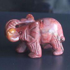 h41971  1.9'' Hand carved mookaite jasper elephant figurine  animal carving