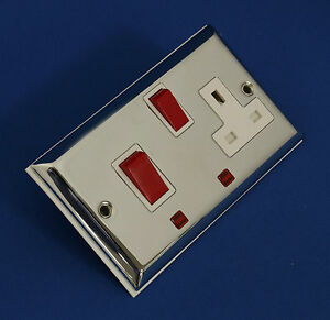 BG CHROME 45A COOKER CONTROL UNIT SWITCHED SOCKET CH670