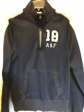 Abercrombie Fitch Mens HEAVYWEIGHT RECONSTRUCTED A&F pullover Navy blue small