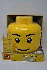 Original LEGO Sort & Store Big Head Yellow Storage Bin RETIRED New in Box RARE