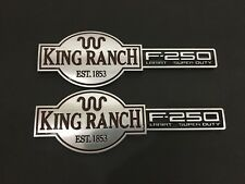 OE King Ranch Tailgate Emblem Badge 2003-2007 F-250 Super Duty - 1Pair