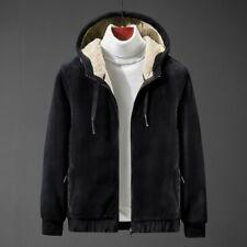 Men's Thick Fleece Lined Jacket Hooded Outwear Outdoor Sweatshirt Casual Winter