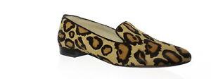 Sam Edelman Womens Jordy New Nude Leopard Loafers Size 7.5 (Wide) (1425823)