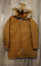 Vintage Down Fur Hooded Parka Jacket - Sportscaster Down - Seattle - Size Small