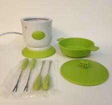 Velata Fun Fondue, Key Lime Pedestal, Scentsy Warmer Base, Silicone Dish & Forks