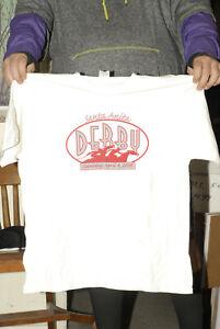 Santa Anita Derby 2009 t shirt new w autographs Horse Racing Large KLOS